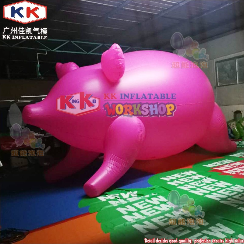 Attractive! giant inflatable cartoon pink pig inflatable flying pig model for saleAttractive! giant inflatable cartoon pink pig inflatable flying pig model for sale