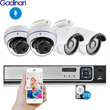 Gadinan 4CH 5MP POE NVR ערכת אבטחת מצלמה מערכת 5.0MP IR מקורה כיפת POE IP מצלמה P2P וידאו מעקב סט