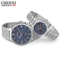CHENXI Brand New 2016 Quartz Couple Watches Ladies WristWatches Women Men Dress Watch Waterproof Fashion Lovers