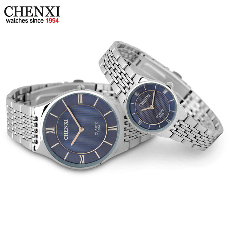 CHENXI Brand New 2017 Quartz Couple Watches Ladies WristWatches Women Men Dress Watch Waterproof Fashion Lovers Watches
