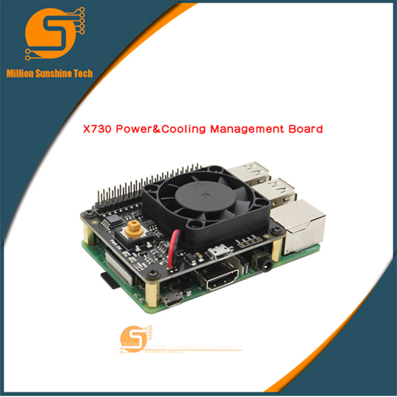 Raspberry Pi X730 Power Management With Safe Shutdown And Auto Cooling Function Expansion Board For Raspberry Pi 3B+(plus) /3B