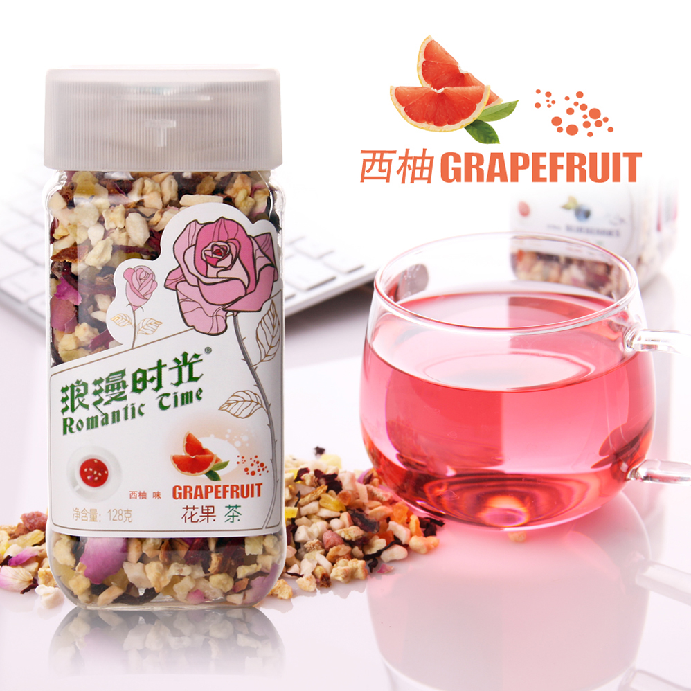 Rose tea time romantic flower fruit tea fruit tea grapefruit the Chinese tea for font b