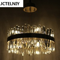 Custom style lamparas crystal glass rod led pendant light new classic brief lamps