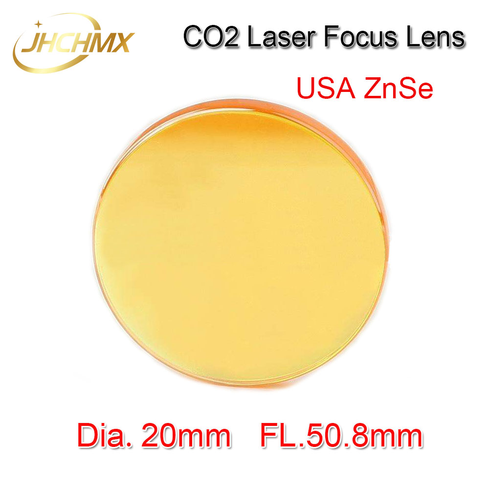 Free Shipping High Quality USA ZnSe CO2 Laser Focus Lens Dia.20mm Focal Length 50.8mm For Trotec Speedy 100/GCC Co2 Laser machin free shipping usa znse co2 laser focus lens diameter 20mm focal length 101 6mm for co2 laser cutting and engraving machine
