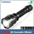 2016 CREE Q5 flashlight Lanterna de led High Power Torch 3800 lumen Zoomable 18650 LED Flashlight tatica light lantern bike