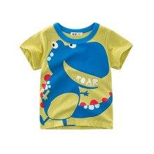 Children wear summer new boy t-shirt cartoon dinosaur tops cotton round neck short-sleeved t-shirt kids casual top clothes цена 2017