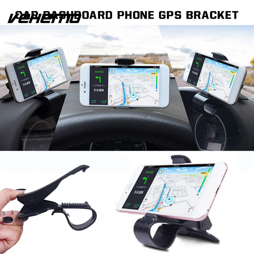 Vehemo ABS Black Universal Facility GPS Mount Holder Cradle Automobile Phone Holder HUD Design Stand Gadget
