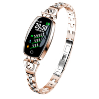 H8 Women Smart Bracelet Fashion Heart Rate Monitor Blood Pressure Smart Band IP67 Waterproof Fitness Activity Tracker Wristband