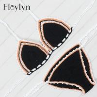 Floylyn Crochet Swimwear Beach Suit Sexy Handmade Crochet Bikinis Women Crochet Swimsuit Brazilian Biquini Swimming Suit