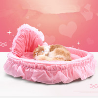 Lace Princess Dog Basket Bed Cat Puppy Pet Beds Pet Dream Nest Pet Kennel Cat Dog Beds Luxury Cat Sofa Dog Bed Bichon111193