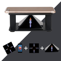 2016 Pyramid Hologram 3 5 To 6 5 Inch Smartphone Holographic Display Showcase Hologram For Huaiwei