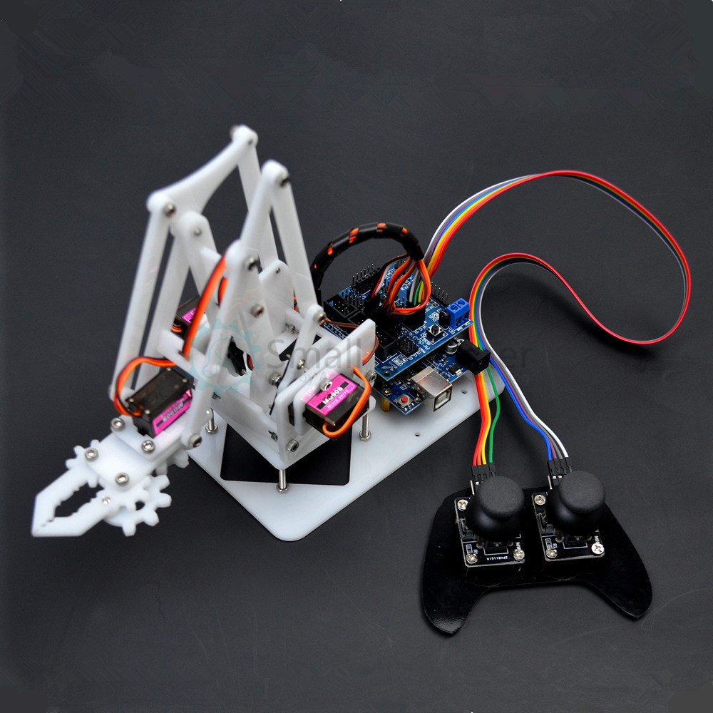 4DOF manipulator arduino Robotic arm ps2 remote control mg90s servo