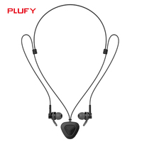 Plufy New Bluetooth V4 1 Headphone Wireless Necklace Earphone Sweatproof Headset Aptx HIFI 3D Stereo With