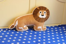 large 65x15x40cm simulation lion plush toy soft cartoon throw pillow. sofa cushion ,birthday present Xmas gift c706
