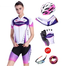 VEOBIKE 2019 Pro Team Sport Women Cycling Jersey Short Set Mtb Bicycle Clothing Mountain Bike Clothes Maillot Roupas Ciclismo