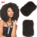 Sleek 3pcs/lot Tight Afro Kinky Bulk Hair 100% Human Hair For Dreadlocks, Indian Hair Kinky Twist hair in Bulk Natural Color