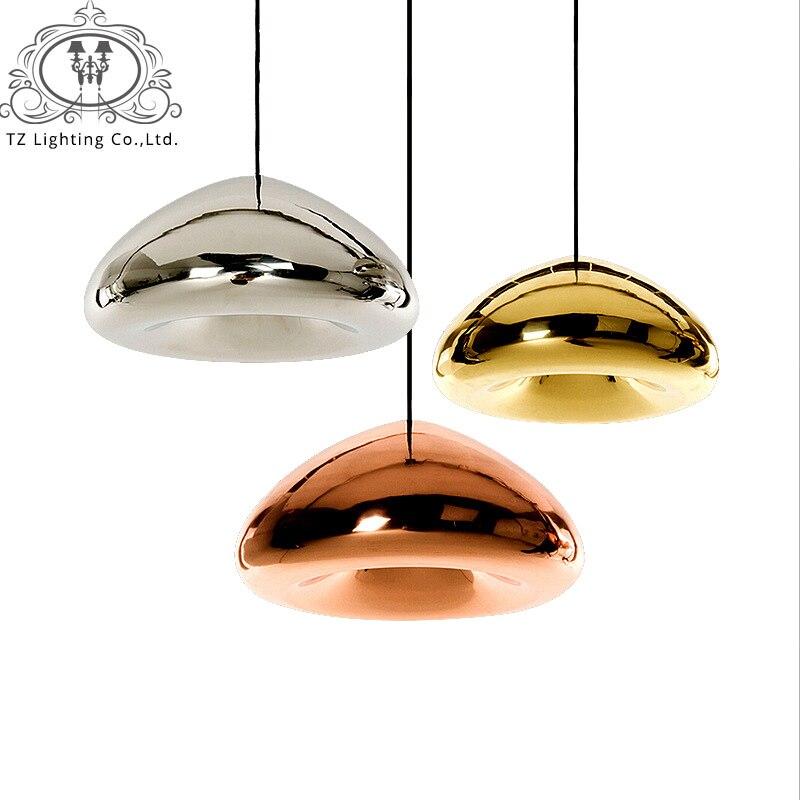 все цены на TZ Modern LED Glass Ball Pendant Light Gold Bronze Sliver Lampshade Mirror E27 Glass D30cm D18cm Hanging Lamp For Home Fixtures онлайн