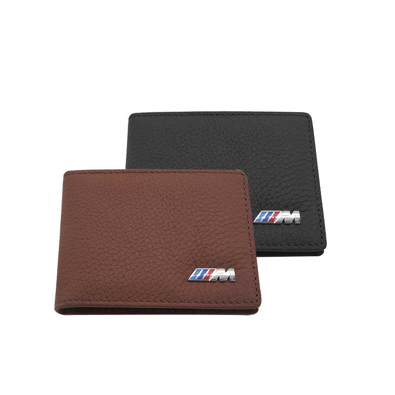 LOEN 1PC Leather Auto Driver License Bag Car Driving Documents Card Credit Holder Purse Wallet Case For bmw style