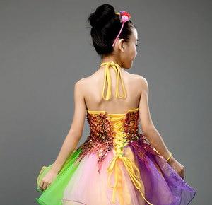 Image 3 - בנות שמלת בלט לילדים ילדה ריקוד ילדים פאייטים בלט תלבושות עבור בנות טוטו ריקוד ילדה שלב Dancewear ביצועים