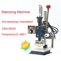 Personalized Custom Manual Wood Press Mark Machine Hot Foil Stamping Machine Marking Press Embossing Machine 5x7cm