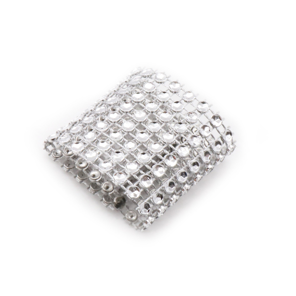 10pcs Diamond Napkin Rings Bling Diamond Wrap Cake Napkin Ring Roll Crystal  Ribbons Party Wedding Table Decoration Party Suppli-in Party DIY Decorations  ... 1b536739e2cd