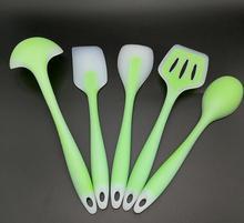 FDA genehmigt 5 stücke Antihaft-silikon kochen küchenutensilien set Hitzebeständige silikonküchenutensilien Kochen Set