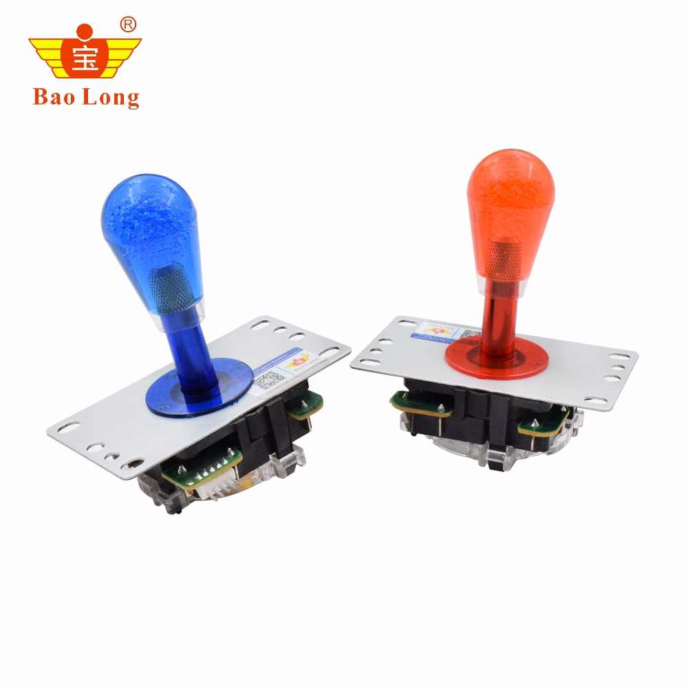 1pcs 4ways 5V Copy Sanwa Joystick With Micro Switch For Game Machine High Quality Multi Color Red Yellow Green Blue White