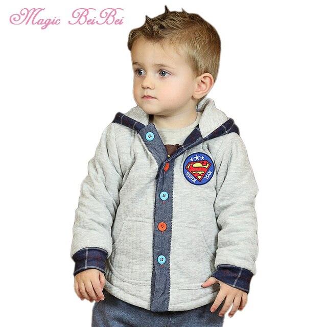 ee6ba1185 Winter Boys Jacket New Brand 1 5 Years Baby Boy Coat Warm Hooded ...