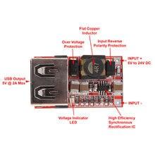 Dc 12 В/24 В до 5 3a 6 24 в мини usb выходное зарядное устройство