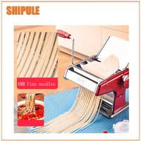 Stainless Steel Pasta Making Machine Red Siver Deluxe Pasta Machine Noodle Maker