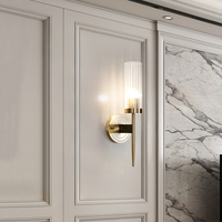 16 High Crystal Brass Wall Sconce 2 Lights Copper Light Bathroom Euro LED Reading Wall Lamp led wall light sconce wall lights