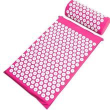 Cojín para acupuntura colchón acupresión espiga de Yoga alfombrilla de masaje almohadillas almohada de masaje de cabeza