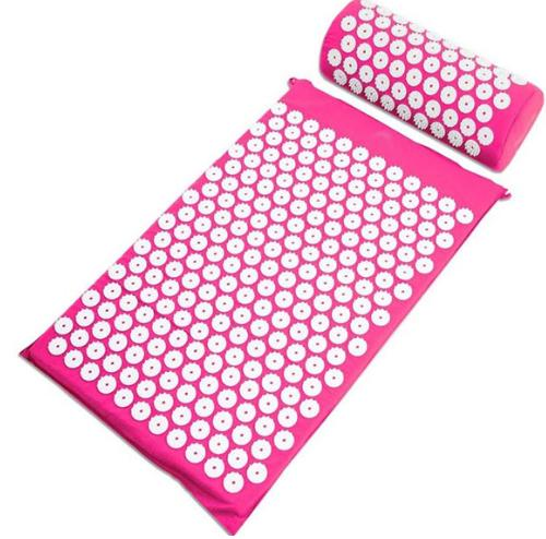 Pink acupuncture cushion mattress Acupuncture Spike Yoga Mat Pads Head with Massage Pillow #309 pig acupuncture model animal acupuncture model