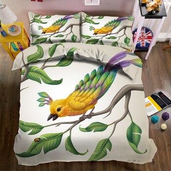 Morden 3D Bedding Set flowers Quilt Cover Set King Queen Twin Size Home Textiles Drop Ship