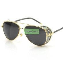 7 Colors Cross Carving Gothic SteamPunk Glasses Eyewear Hot New Vintage Fashion Summer Cool Sunglasses Women Men Brand Designer
