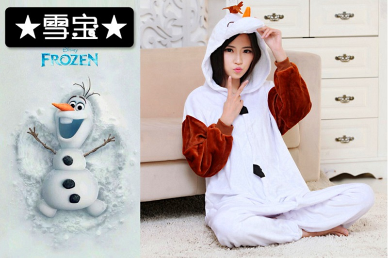 Cartoon animal conjoined pajamas new snow legend snowman lovely casual cartoon home