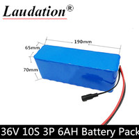 10S 3P 36 V 6000 mAh 350W High Power and Capacity 42V 18650 Li Ion Battery Motorcycle Electric Car Bicycle Scooter with BMS