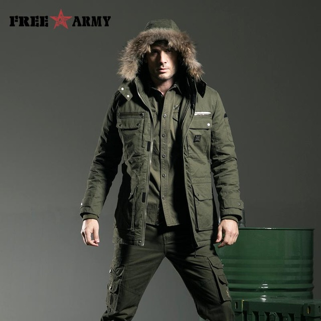 Large Size Winter Jacket Men Cotton Military Thickness Long Jacket Fur Collar Hooded Man Jacket Coats Army Jacket Male Ms-6211A