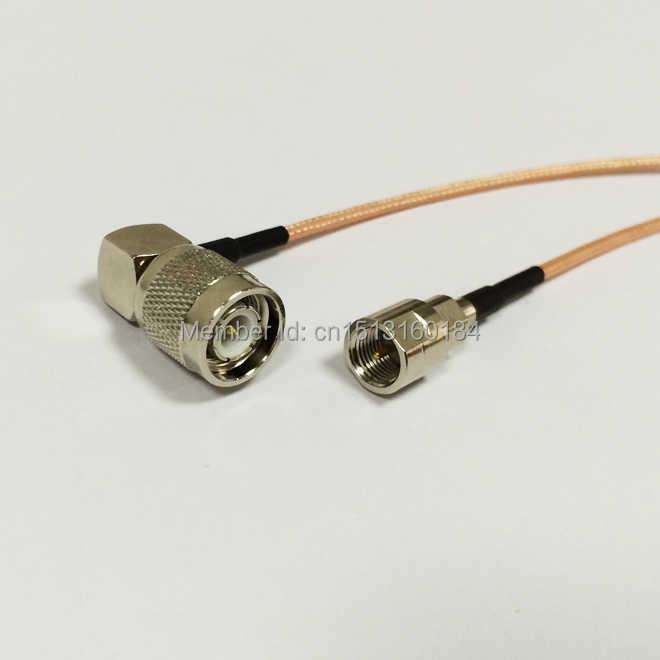 """Yeni Modem Koaksiyel Kablo TNC Erkek Tak Dik Açı FME Erkek fiş konnektörü RG316 Kablo Pigtail 15 CM 6"""" adaptörü"""