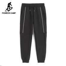Pioneer Camp New thicken sweatpants men brand clothing winter warm fleece casual pants male quality cotton trousers AWK702322