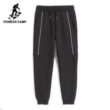 Pioneer camp nova engrossar sweatpants roupas de marca dos homens inverno quente velo calças casuais masculino qualidade algodão calças awk702322