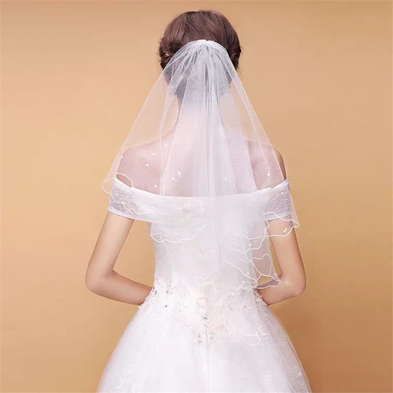 2019 Hot Sale Fashion 1.5 M Bride Veils With Pearl Wedding Veil Weddings Accessories Wedding Veil