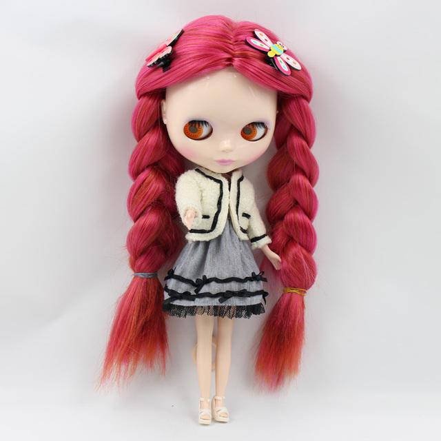ICY Neo Blythe Doll Dark Red Hair Regular Body