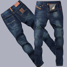 fashion cotton straight thin models europe and america men jeans classic  denim jeans young long jeans men