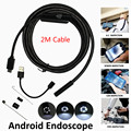 5.5mm Len 6 Leds IP67 Waterproof OTG UVC Snake Borescope Usb Endoscope Android Camera 2M Cable 2IN1 Not IP Camera