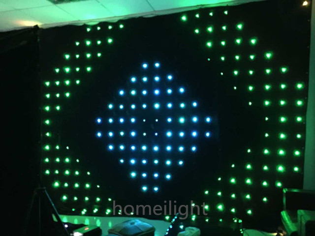 New modil 3*4M led  vision cloth  ,led video curtain ,RGB video display