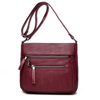 New Fashion Women Bag PU Leather Shoulder Bags Vintage Designer Messenger Bag Luxury Ladies Handbag Clutch