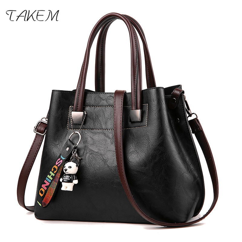 TAKEM NEW 2018 High Capacity Luxury Handbags Women Bags Design PU Ladies Handbag High Quality Women's Over-the-shoulder Bags the new design high quality infrared thermo graphy for women self inspection