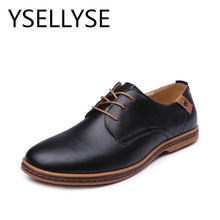 Spring Autumn New Wedding Business Man's Lace-up Flat Shoes New England Fashion PU Leather Shoes 2017 Casual Shoes Large Size 48