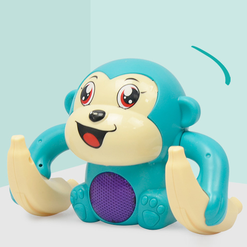 Fun Kids Toys Electric Rolling Doll Tumble Monkey Toy Voice Control Animal Modern Plastic Cartoon Educational Children Toys Hot